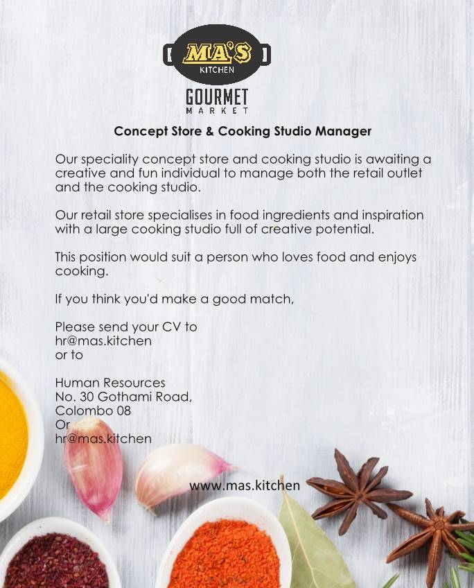 Concept Store and Cooking Studio Manager